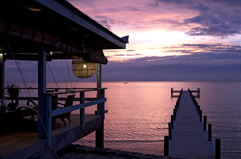 Sunset Kep Pier