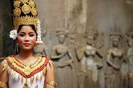 Cambodia Apsara dancer