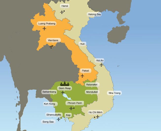 Indochina map