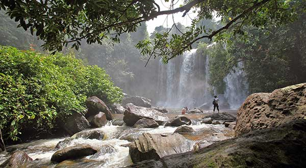 Kulen mountain waterfall