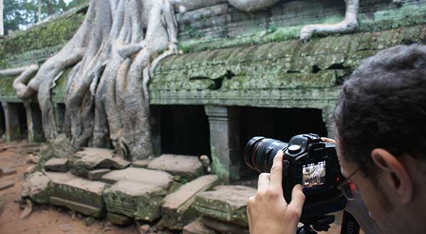 Photographing Ta Prohm Temple
