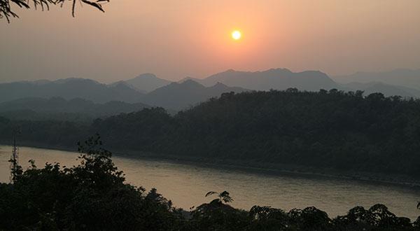Mount Phousi Sunset