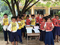 Happy School Children with new Study Books