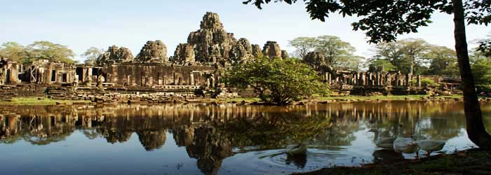 Bayon temple, about 14 km from Siem Reap, Cambodia