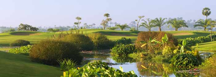Angkor golf resort - 9th hole in Siem Reap