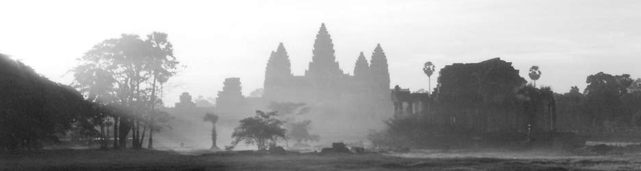 Angkor Wat sunrise.  Tours of the temples during dry monsoon often include this activity.