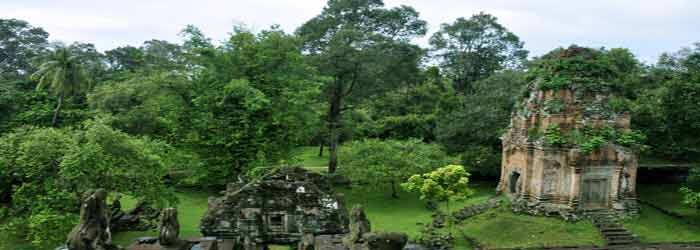 Bakong temple in Cambodia- One of the Roluos group temples