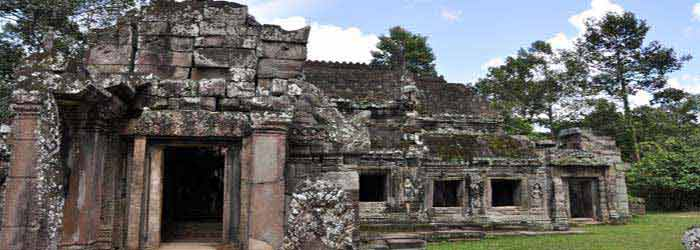 Banteay kdei temple - one of the small temples in Siem Reap, Cambodia