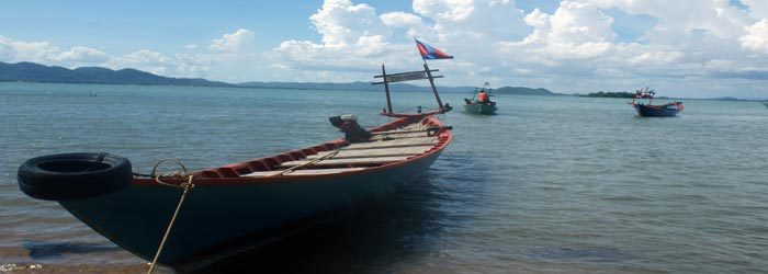 Boats in a beach in Sihanoukville