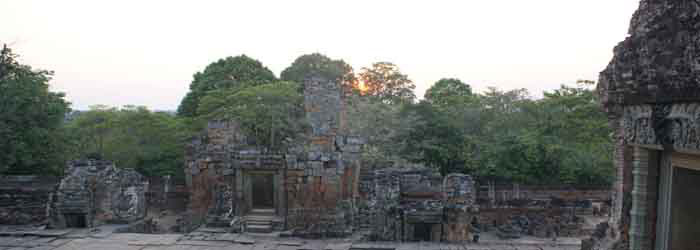 East Mebon temple at sunset, Siem Reap, Cambodia
