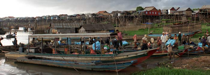 Kompong Khleang flaoting village in Tonle Sap, Cambodia