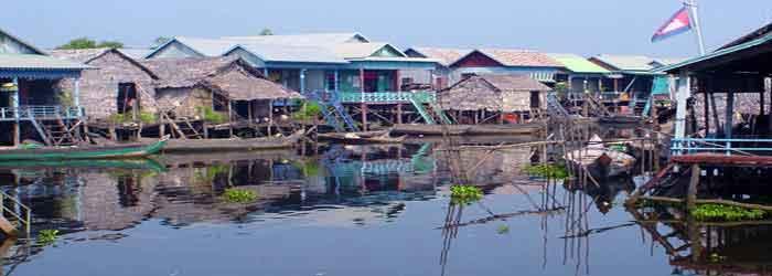Kompong Phluk floation village in Tonle Sap, Cambodia