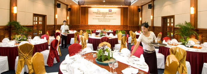 Busienss meeting room in Cambodian hotel