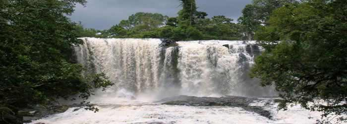 Boursa waterfall in Mondulkiri, Cambodia