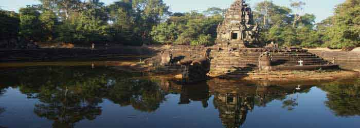 Neak Pean Temple, a beautiful island-temple in Cambodia.