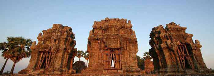 Phnom Krom temple in Cambodia - one of the Roluos Group Temples