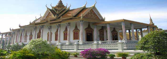 Silber-Pagode in Phnom Penh, Kambodscha's