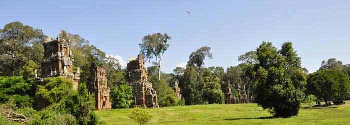Prasat Suor Prat - a small temple in Siem Reap, Cambodia