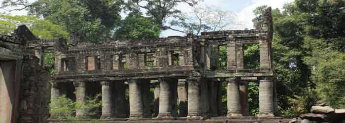 Preah Khan temple in Siem Reap, Cambodia