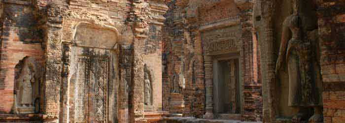 Preah Ko temple in Cambodia - one of the Roluos Group Temples