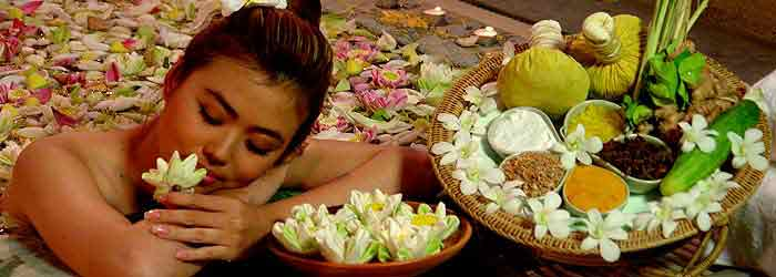 Cambodian woman in a Spa