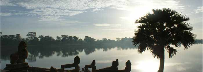 Srah Srang lake in Siem Reap, Cambodia