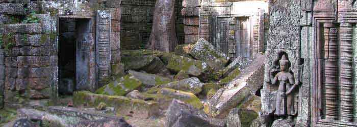 Ta Nei temple cambodia - around 15km from Siem Reap