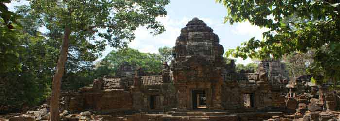 Ta som temple in Cambodia, travel 18km from Siem Reap
