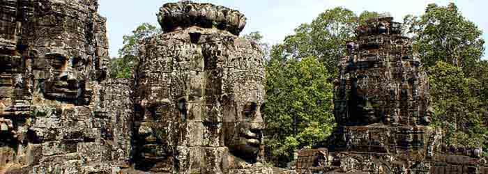 siem reap phnom penh - bayon tempel, Kambodscha tempel, angkor tempel