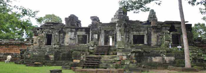 Wat Athvea Temple in Cambodia - one of the Roluos Group Temples