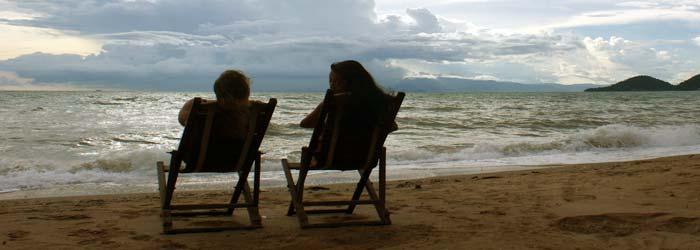 camboya playa - las mujeres en camboya playa