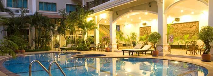 angkor holiday hotel, siem reap - pool at angkor holiday hotel