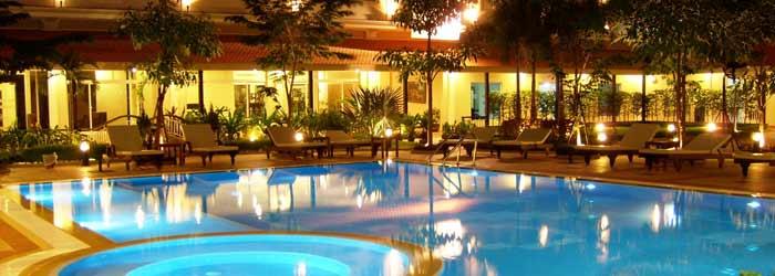 angkor Riviera hotel, siem reap - pool at angkor riviera hotel