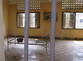 Tuol Sleng cell in Phnom Penh