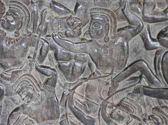 Bas-relief at Angkor Wat, Siem Reap