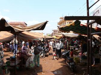 Banlung market in Ratanakiri, Cambodia