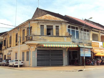 Colonial buildings in Battambang
