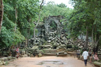 Beng Mealea temple. Travel around 80km from Siem Reap, Cambodia