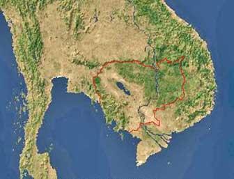 cambodia satellite image