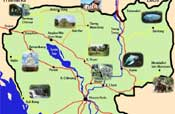 cambogia turismo, guida cambogia, tour cambogia - mappa interattiva, guida interattiva