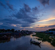 Sunset in Tonle Sap