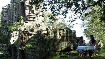 l'entrata di angkor thom - pausa caffé