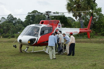 Helicopter tour of Angkor Wat