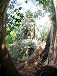 angkor camboya - bayon siem reap, templo con rostros de piedra