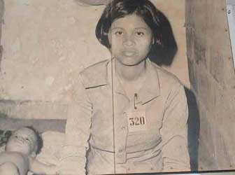 Cambodian girl in the khmer Rouge years