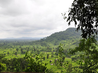 View of Kulen Mountain in Cambodia