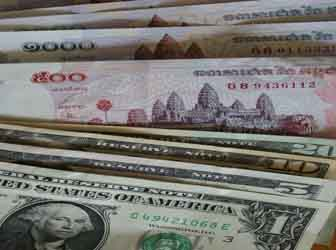 US Dollars and Riels are the two forms of currency in Cambodia