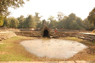 Neak Pean temple. A beautiful island-temple, Cambodia