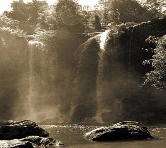 Waterfall at Phnom Kulen, Cambodia