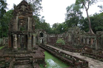 Preah Khan temple. Travel around 22km from Siem Reap, Cambodia